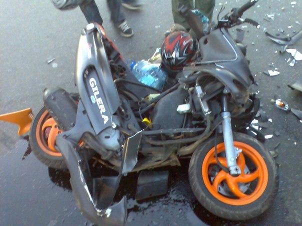 На Голопристанщині двоє п'яних юнаків розбились на скутері
