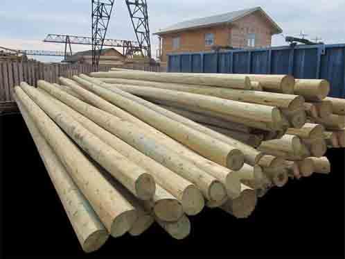 Фото опоры деревянные